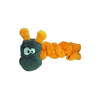 Chopper & Otis: Cycle Dog Duraplush Coil Caterpillar - Orange/Grey