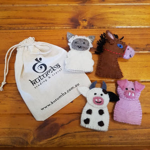 Felt Finger Puppet Set - Farm