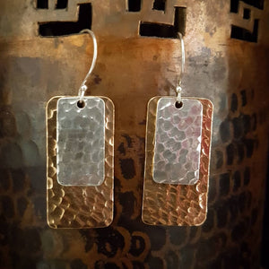 Copper/Silver Earrings - Khajana
