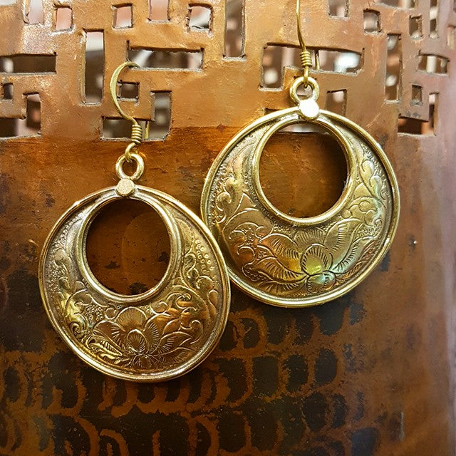 Brass Earrings - Mahima