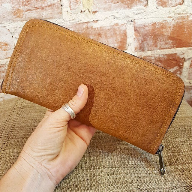 Organic Leather Wallet - Amrita