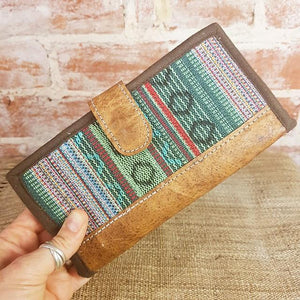 Leather & Weave Wallet - Hariyo