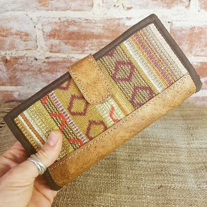 Leather & Weave Wallet - Khairo