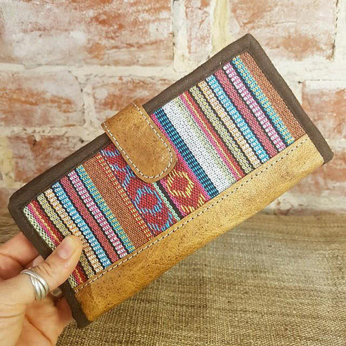 Leather & Weave Wallet - Rangichangi