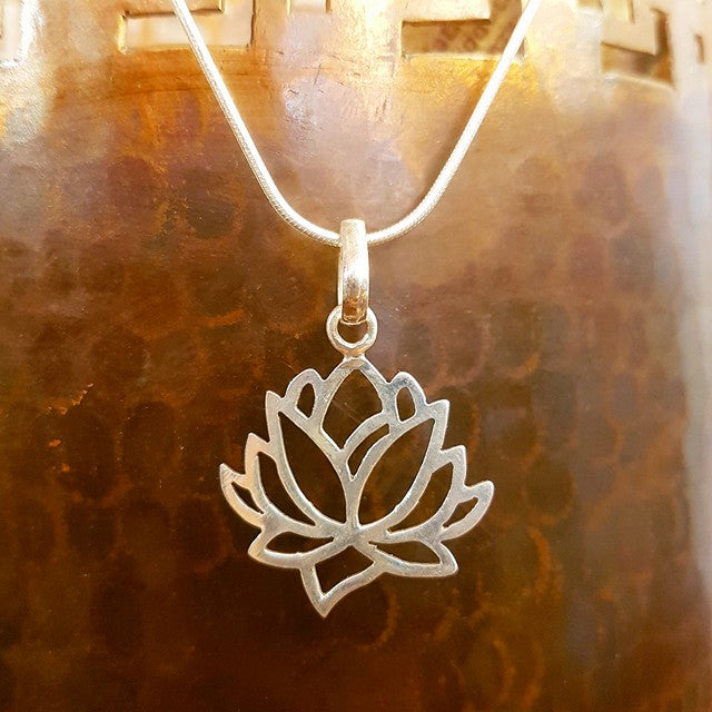 Sterling Silver Pendant - Padma