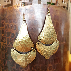 Brass Earrings - Tulasi