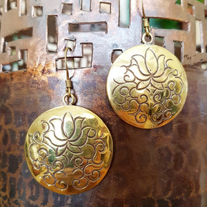 Brass Earrings - Nilu