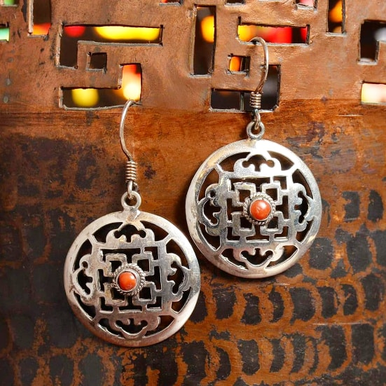Sterling Silver Earrings - Mandala