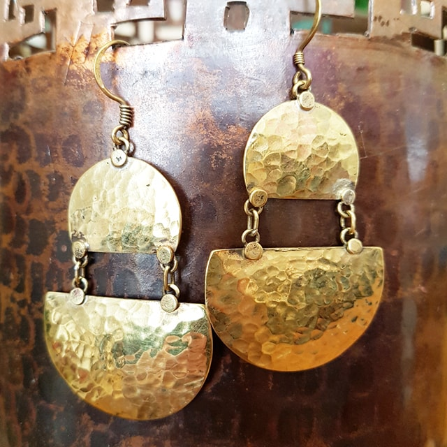 Brass Earrings - Geeta