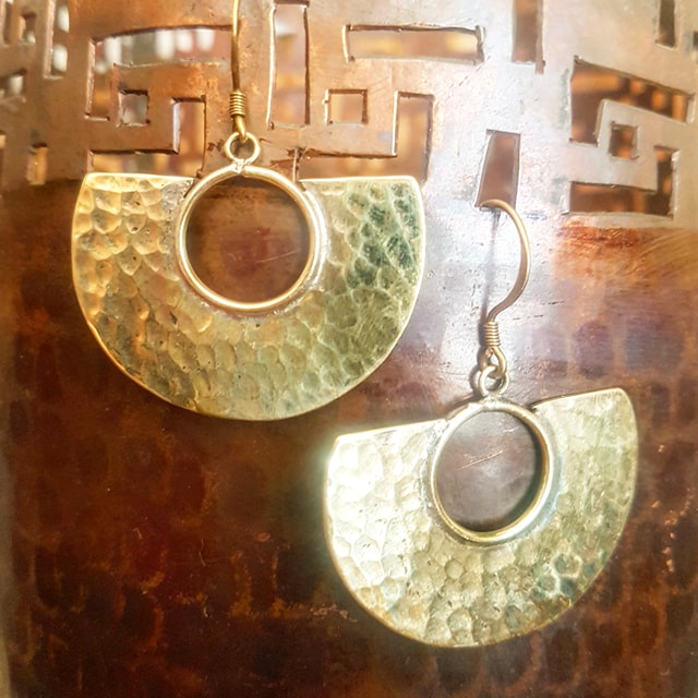 Brass Earrings - Leela