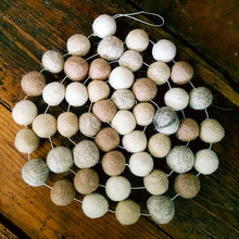 Felt Ball Garland ~ Natural