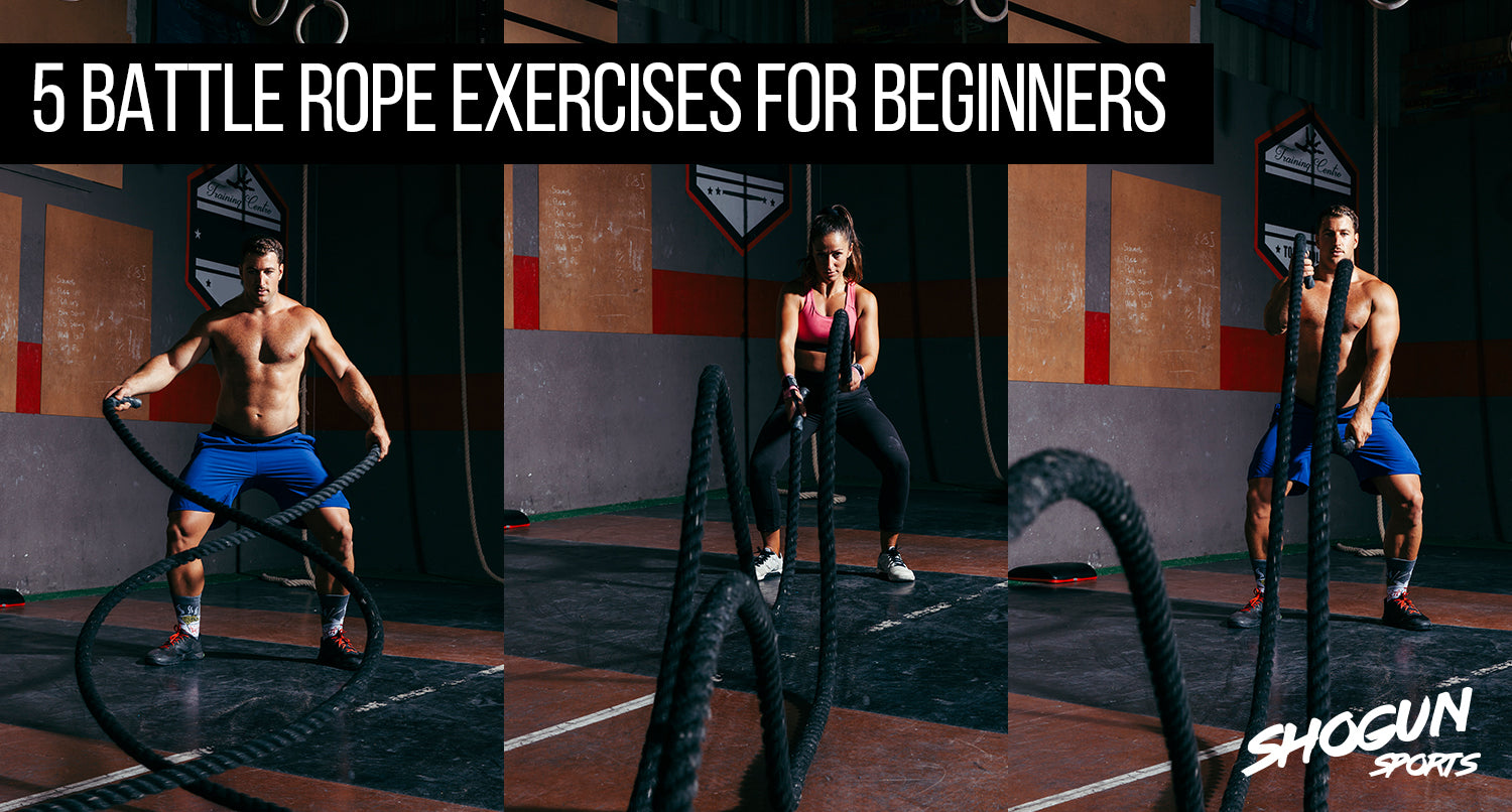 5 Battle Rope Exercises for beginners