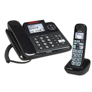 Clarity E814 Amplified Phone w/ Answering Machine and Cordless Handset - harc.com