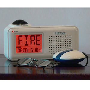 Lifetone HL Fire Alarm Monitor and Clock - harc.com