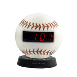 Sonic Glow Baseball Alarm Clock with Recordable Alarm (Bed Shaker Optional) - harc.com