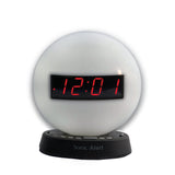 Sonic Glow Night Light Alarm Clock with Recordable Alarm (Bed Shaker Optional) - harc.com