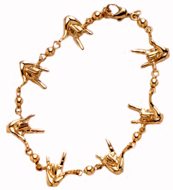 Linked I Love You Bracelet - harc.com