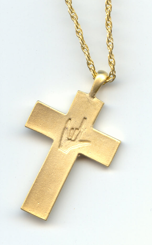 I Love You Cross Necklace