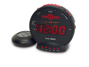 Sonic Bomb Clock with Bedshaker - harc.com