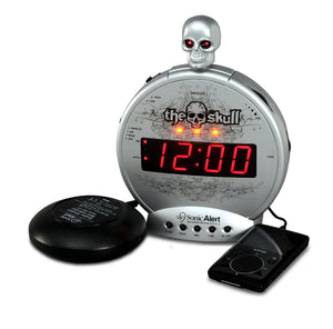 The Skull Alarm Clock w/Bone Crusher Bedshaker - harc.com