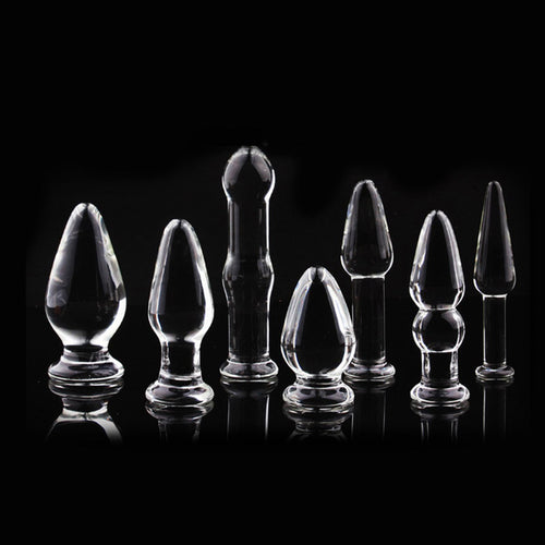 1Pc Glass Anal Butt Plugs