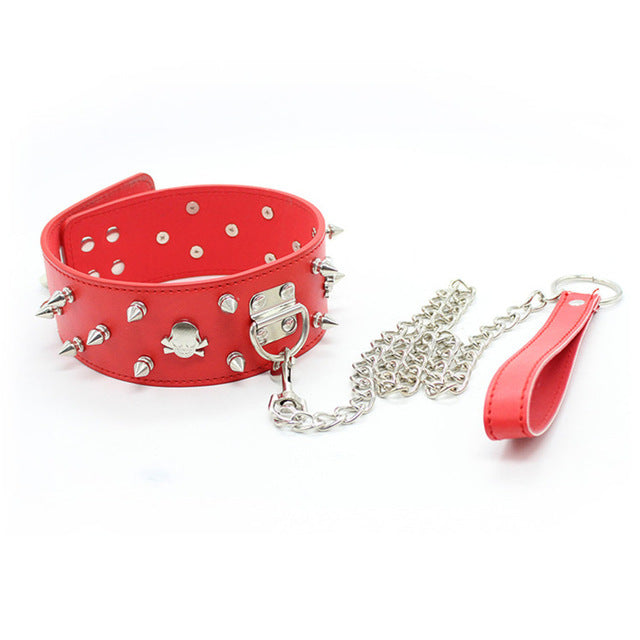 Skull Sexy Collar and Chain Leash