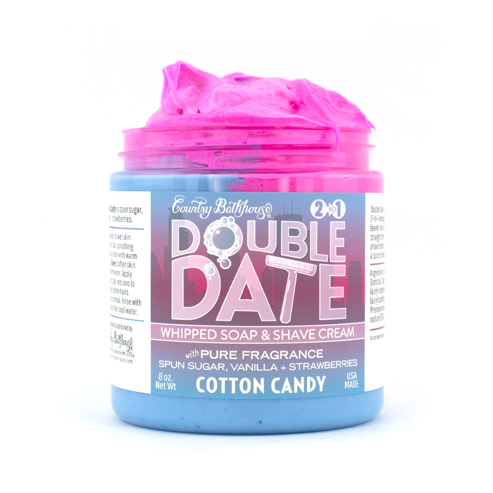 Double Date Whipped Soap and Shave - Cotton Candy