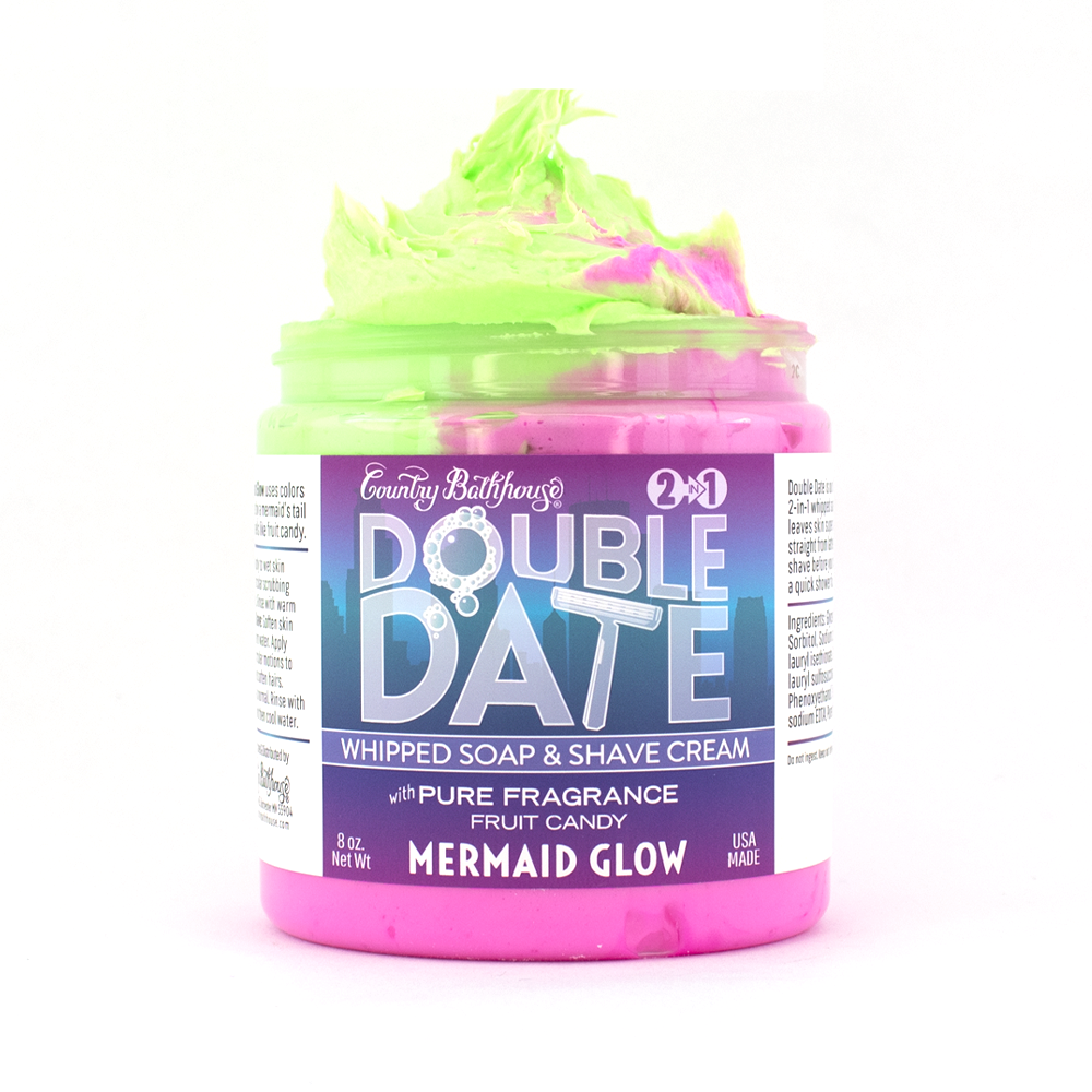 Double Date Whipped Soap and Shave - Mermaid Glow