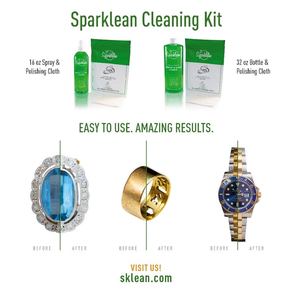 Sparklean - Cleaning Kit Bundle 32 oz Bottle & Polishing Cloth - Sparklean
