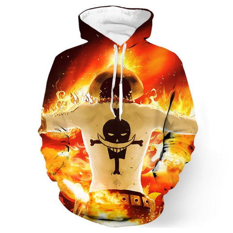 One Piece Fire Hoodie