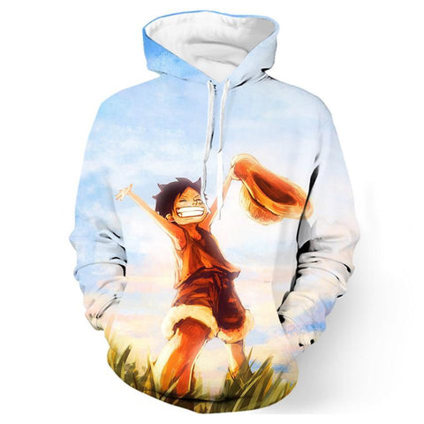 One Piece Childhood Luffy Hoodie