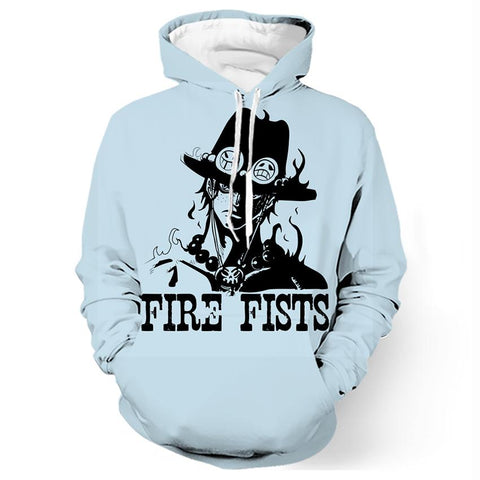 One Piece Fire Fists Hoodie