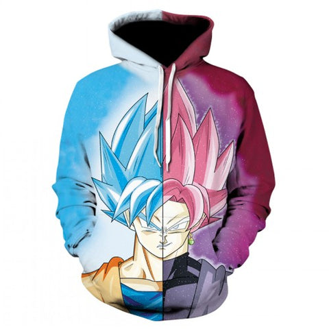 Dragon Ball Z Goku Blue / Red Hoodie