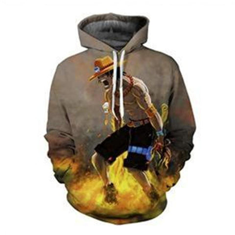 One Piece Portas D. Ace Fire Hoodie