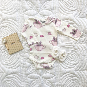 Teatime Long Sleeve Onesie