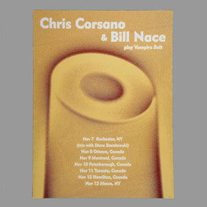 Bill Nace / Chris Corsano Tour 2018 Poster - Monoroid