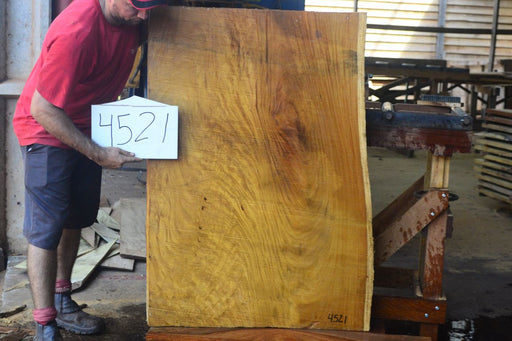 "PRESIDENT'S SALE ITEM - Tatajuba #4521 - 3-1/2"" x 31"" to 33"" x 46"" FREE SHIPPING within the Contiguous US. - Big Wood Slabs"