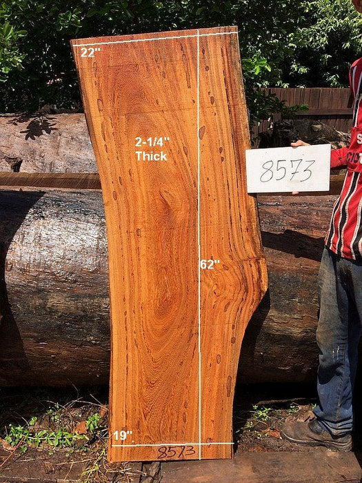 "Angelim Pedra - 2-1/4"" x 19"" to 22"" x 62"" - Big Wood Slabs"