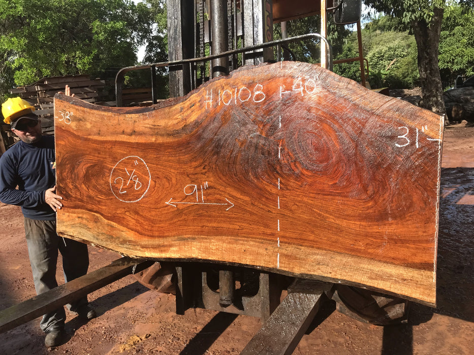 Jatoba / Brazilian #10108 - FREE SHIPPING within the Contiguous US. - Big Wood Slabs