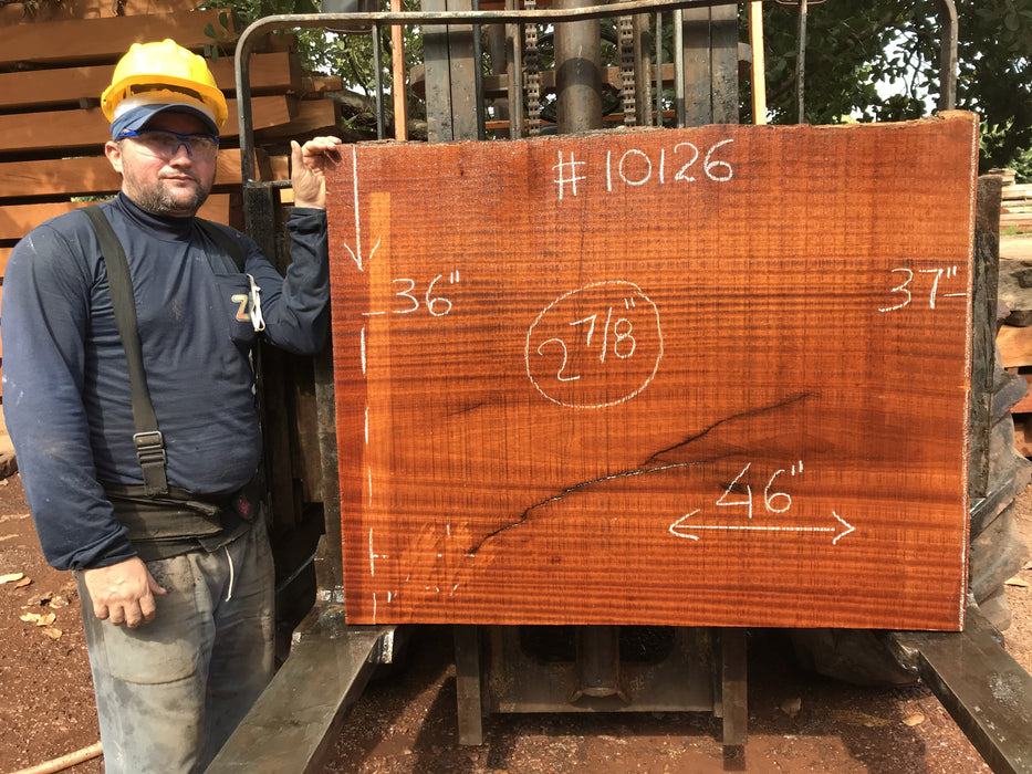 "Tatajuba #10126 - 2-7/8"" x 36"" to 37"" x  46"" FREE SHIPPING within the Contiguous US. - Big Wood Slabs"