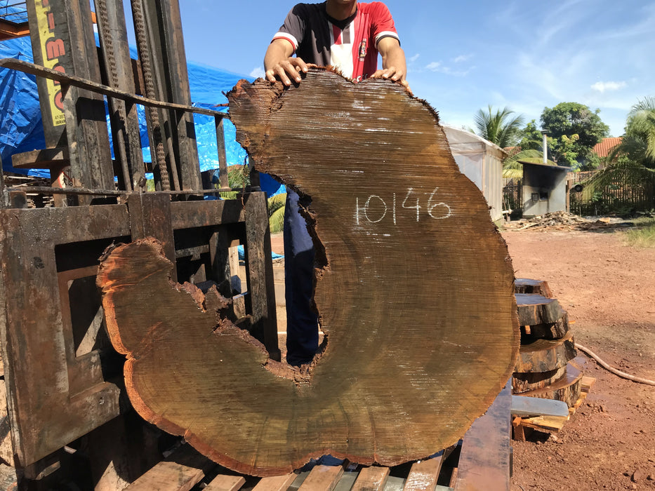 "Ipe / Brazilian Walnut #10146 - 4-3/4"" x 47""  x 48"" FREE SHIPPING within the Contiguous US. - Big Wood Slabs"