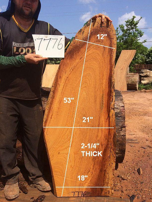 "Angelim Pedra - 2-1/4"" x 18"" to 21"" x 53"" - Big Wood Slabs"