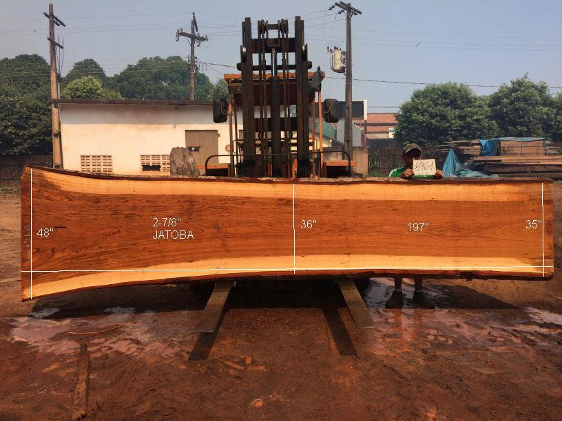 Jatoba / Brazilian Cherry #8961– 2-7/8″ x 35″ to 48″ x 197″ FREE SHIPPING within the Contiguous US. - Big Wood Slabs