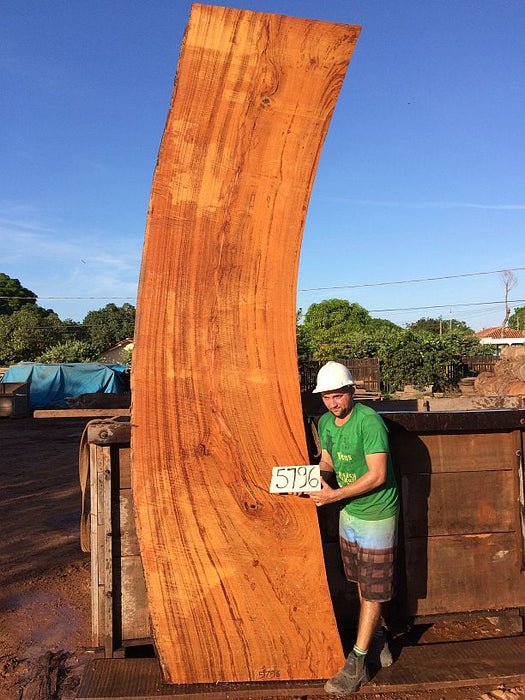"Angelim Pedra #5796- 3"" x 36"" to 41"" x 153"" FREE SHIPPING within the Contiguous US. - Big Wood Slabs"