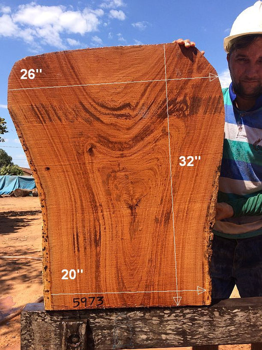 "Angelim Pedra #5973- 2-3/4"" x 20"" to 26"" x 32"" FREE SHIPPING within the Contiguous US. - Big Wood Slabs"