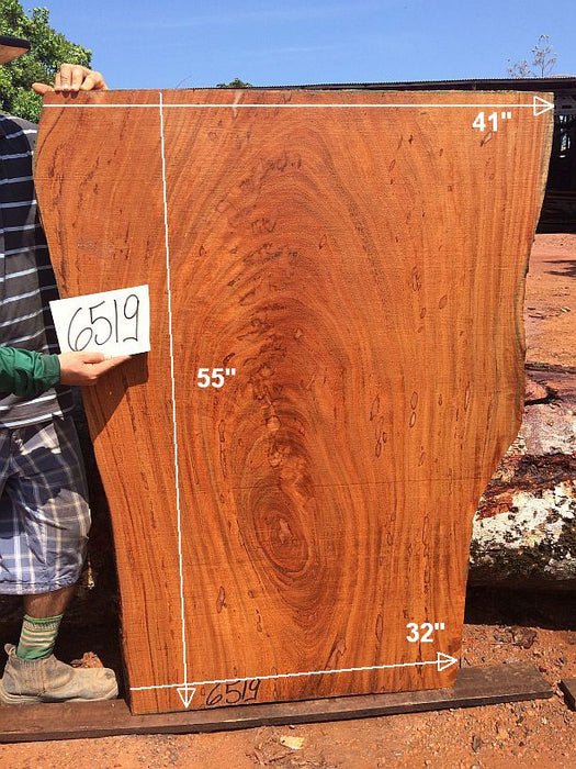 "Angelim Pedra #6519- 2-3/4"" x 32"" to 41"" x 55"" FREE SHIPPING within the Contiguous US. - Big Wood Slabs"