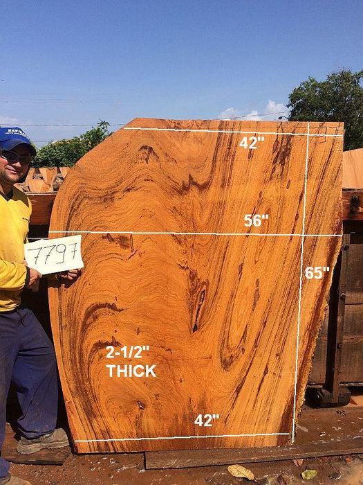 "Angelim Pedra - 2-1/2"" x 42"" to 56"" x 65"" - Big Wood Slabs"