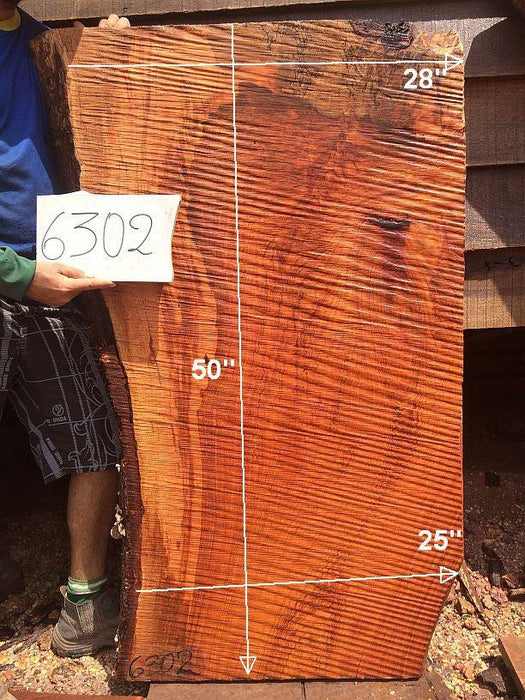 "Jatoba / Brazilian Cherry - 2-1/2"" x 25"" to 28"" x 50"" - Big Wood Slabs"