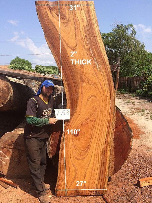 "Angelim Pedra #7743 - 2"" x 27"" to 31"" x 110"" - Big Wood Slabs"