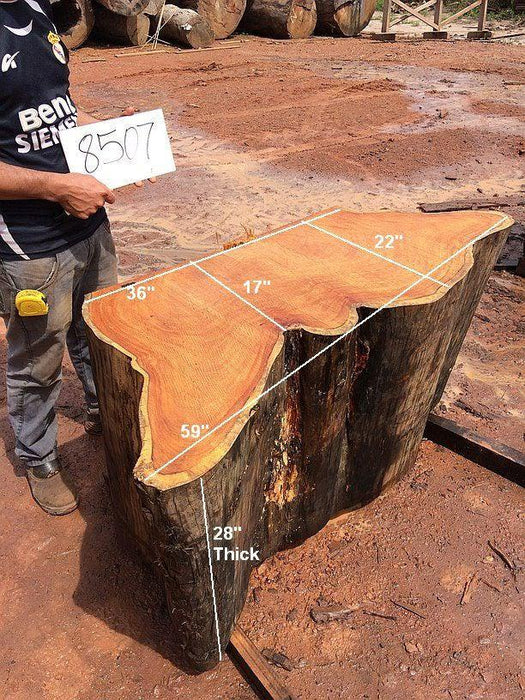 "Garapa #8507- 28"" x 17"" to 22"" x 59"" FREE SHIPPING within the Contiguous US. - Big Wood Slabs"